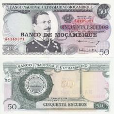 MOZAMBIC 50 escudos 1970 UNC!!! - bancnota africa