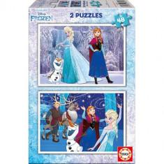 Puzzle Educa Frozen 2 x 48 piese