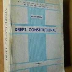 DREPT CONSTITUTIONAL - NISTOR PRISCA - Carte Drept constitutional