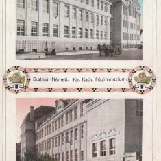 SATU MARE, GIMNAZIUL CATOLIC - Carte Postala Maramures 1904-1918, Necirculata, Printata