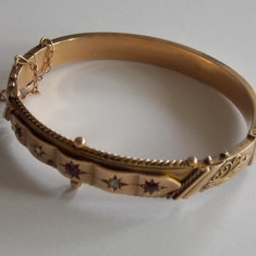 Bratara de aur vintage -9k - 652 - Bratara aur, Culoare Aur: Galben, 9 carate