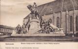 CLUJ STATUIA REGELUI MATYAS SI BISERICA SFANTUL MIHAIL CLASICA ED FABRITIUS ERIK, Necirculata, Printata, Cluj Napoca