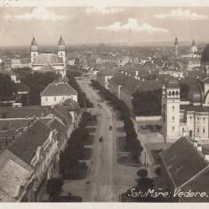 SATU MARE, VEDERE, CIRCULATA OCT.1939 - Carte Postala Maramures dupa 1918, Fotografie