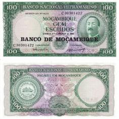 MOZAMBIC 100 escudos 1961 UNC!!! - bancnota africa