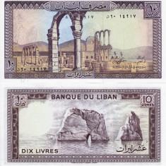 LIBAN 10 livres 1986 UNC!!!