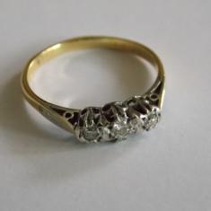 Inel de aur 18 k cu diamante - 444 - Inel aur, Culoare: Galben, 46 - 56
