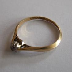 Inel de aur cu diamant 0, 3k - 445 - Inel aur, Carataj aur: 18k, Culoare: Galben, 46 - 56