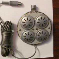 CY - Boxa audio difuzor vechi manufacturat ingenios aluminiu plastic tabla