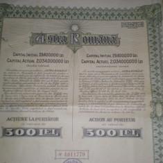 Actiune 500 lei 1930 Astra Romana
