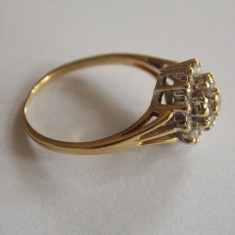 Inel de aur 18k cu diamante - 452 - Inel aur, Culoare: Galben, 46 - 56