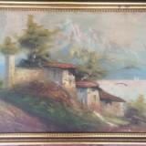 Tablou vechi /pictor italian semnat Vinci - Pictor roman, Portrete, Ulei, Impresionism