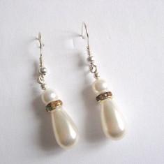 Cercei perle swarovski si mallorca 25464