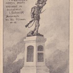 MONUMENTUL EROILOR DIN COMUNA POGOANELE JUD. BUZAU, Necirculata, Printata