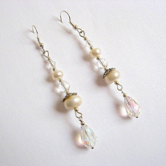 Cercei perle naturale si cristale 23757