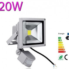 Proiector LED 20w echivalent 200w Senzor miscare Senzor lumina Exterior - Corp de iluminat, Proiectoare
