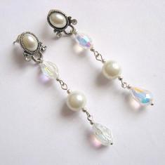 Cercei perle sticla 25961