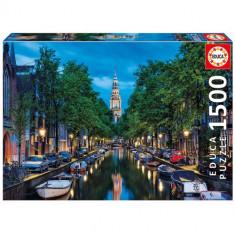 Puzzle Educa 1500 Piese Amurg in Amsterdam