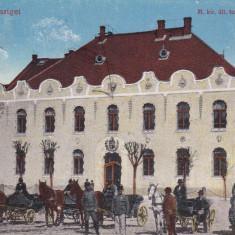 SIGHETU MARMATIEI, SCOALA SUPERIOARA DE FETE, TRASURI, CIRCULATA 1917 - Carte Postala Maramures 1904-1918, Printata