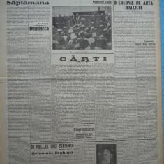 Cuvantul , ziar legionar , 22 Mai 1933 , articole Mihail Sebastian ,G. Racoveanu