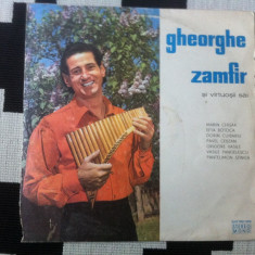 Gheorghe Zamfir si virtuosii sai disc vinyl lp Muzica Populara electrecord folclor botoca, VINIL