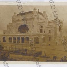 1312 - CONSTANTA, Cazino - old postcard, real PHOTO - unused - Carte Postala Dobrogea dupa 1918, Necirculata, Fotografie