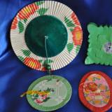Lot 5 Obiecte chinezesti din hartie pentru decor. Gen lustra,lampion. Chinezesc