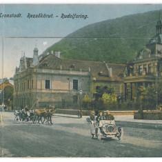 926 - BRASOV, old car - 10 little old postcards, CENSOR - used - 1918 - Carte Postala Transilvania 1904-1918, Circulata, Printata
