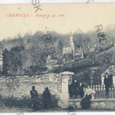1209 - Caras-Severin, ORAVITA, church - old postcard - used - 1911 - Carte Postala Banat 1904-1918, Circulata, Printata