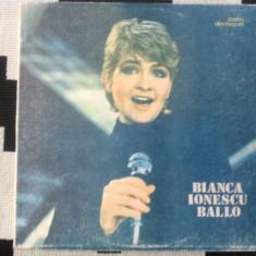 Bianca Ionescu Ballo disc vinyl lp muzica pop usoara slagare electrecord, VINIL