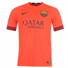Tricou Nike Fc Barcelona Messi (deplasare) colectie noua IUNIE 2016 STOC LIMITAT - Tricou barbati Nike, Marime: XS, S, L, Culoare: Orange, Maneca scurta, Microfibra