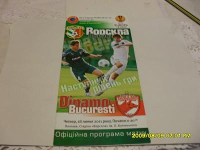 program    Vorskla Poltava  -  Dinamo foto