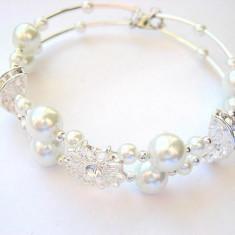 Bratara perle sticla si cristale 11219