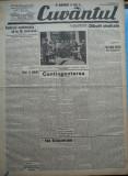 Cuvantul , ziar legionar , 25 Mai 1933 , articole Nae Ionescu , Perpessicius, Nae Ionescu