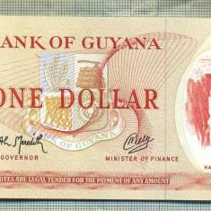A 763 BANCNOTA-GUYANA - 1 DOLLAR-ANUL(1966-92)-SERIA720683-starea care se vede