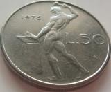 Moneda 50 Lire - ITALIA, anul 1976 *cod 1347 a.UNC, Europa