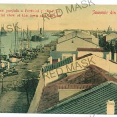 1100 - Dobrogea, Tulcea, SULINA, harbor, ships - old postcard - unused - Carte Postala Dobrogea 1904-1918, Necirculata, Printata