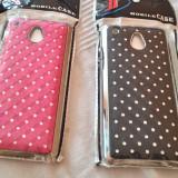 Husa HTC ONE MINI roz sau neagra cromata cu strasuri - Husa Telefon Asus, Negru, Cu clapeta
