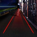 Stop/ lampa led spate bicicleta cu LASER, Faruri si semnalizatoare