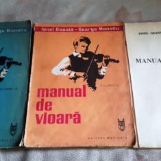 Manual de vioara, vol III – IV + anexa, I. Geanta, G. Manoliu