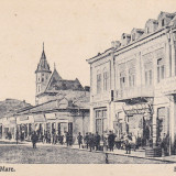 BUZAU, STRADA MARE, MAGAZINE, ANIMATIE - Carte Postala Muntenia dupa 1918, Necirculata, Printata