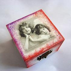 cutie lemn decorata 23112