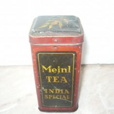 CUTIE TABLA PENTRU CEAI MEINL TEA INDIA SPECIAL COMERCIALIZAT IN ROMANIA - Cutie Reclama
