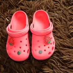 Slapi tip crocs, cauciuc, extrem de comozi si usori, Sport, marimea 26-29 - Papuci copii Crocs, Culoare: Rosu, Fete