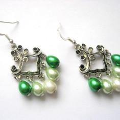 Cercei perle sticla 10951 - Cercei perla