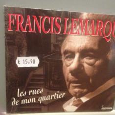 FRANCIS LEMARQUE - LES RUES DE MON...(1997/ARCADE/GERMANY)- ORIGINAL/NOU/SIGILAT - Muzica Folk universal records, CD