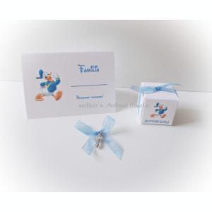 Pachet botez Donald Duck (marturii, carduri si cruciulite)