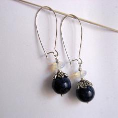 Cercei lapis lazuli si piatra lunii 23854