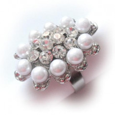 Inel perle si cristale 10052