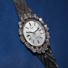 CEAS AUR masiv 14K + Diamante - Dama ANKER 85 -Cal AS 1677 -Mecanic -1965 -28g.! - Ceas de mana