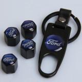 Breloc si 4 capacele ventil auto pentru Ford